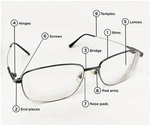 learn   essential parts  eyeglasses american