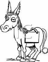 Mule Coloring Clipart Clip Ass Side Getcolorings Printable sketch template
