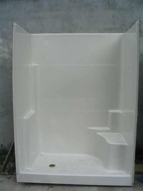 walk in shower with seat one seat walk in shower stall will ship at your cost ebay