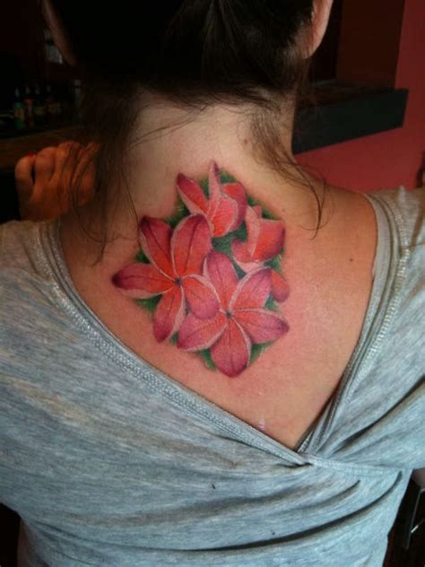 exotic flower tattoo