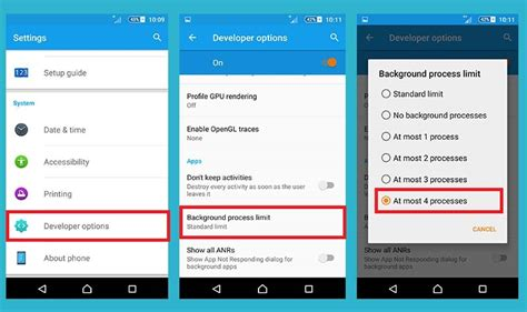 Android Background Process Limit Limit Background Process Limit In Android Andriod Centric