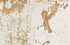 Wandgestaltung im usedlook flecken wei grau ockergelb for Wandgestaltung vintage look