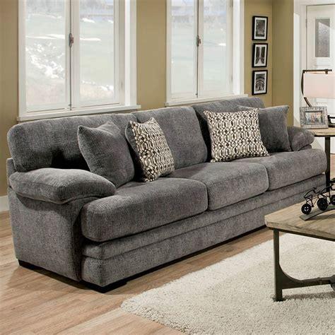 furniture  america loha chenille sofa  gray idf