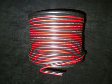 gauge  ft red black zip wire awg cable power ground stranded copper car ebay