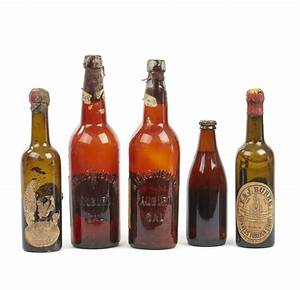 Five, Antique, Beer, Bottles