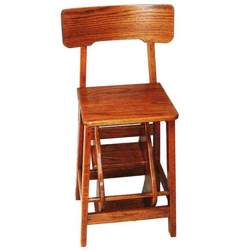 picture of solid wood amish built step stool