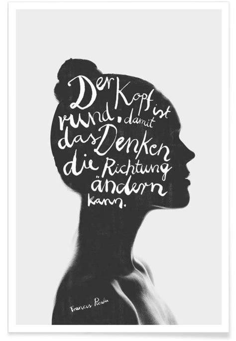 Bild Als Poster by Denken Poster Juniqe