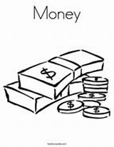 Coloring Money Pages Dollar sketch template