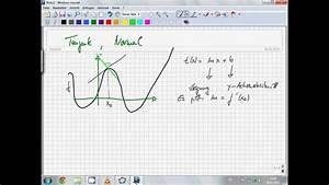 Tangente Und Normale Berechnen : tangentengleichung und normale mathe verstehen youtube ~ Themetempest.com Abrechnung