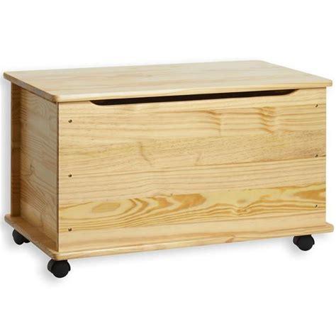 coffre a jouet en bois brut pas cher