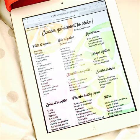 quoi cuisiner liste de courses fit your dreams fit your dreams