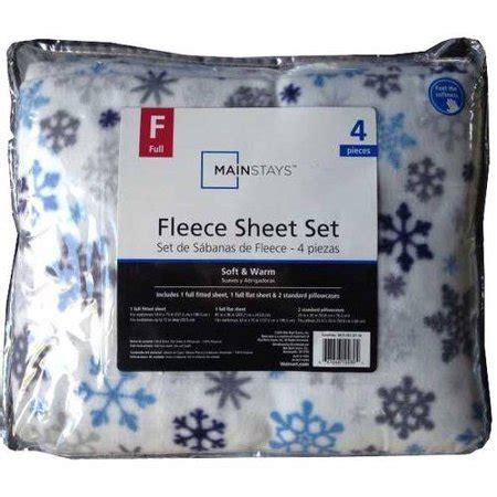mainstays micro fleece sheet set snowflake walmartcom