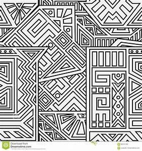 Aztec Vector Seamless Pattern Stock Vector