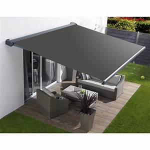 Store banne motorise borneo coffre integral aluminium for Carrelage adhesif salle de bain avec store banne led