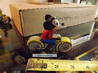 Mouse Motorcycle Toy Mickey Linemar Friction Tin