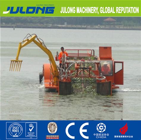 river cleaning machineboatship  collect  floating trash aquatic weed  reservoirs rivers