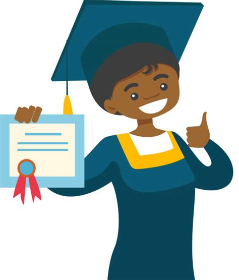 1 png file and 1 jpeg file only. Best African American Graduation Illustrations, Royalty ...