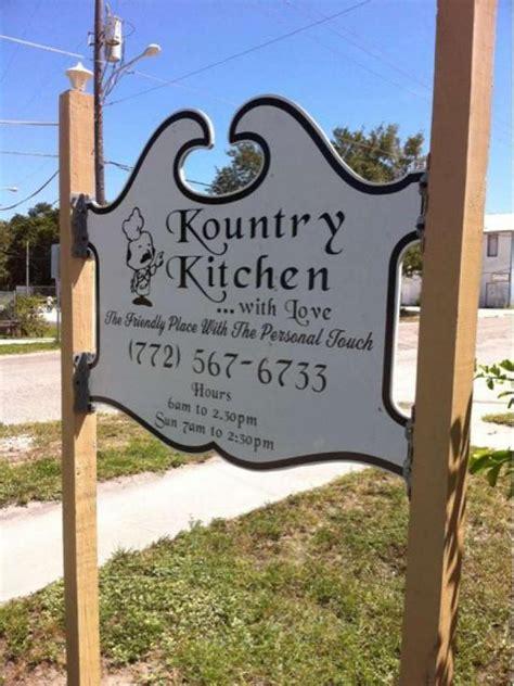 kountry kitchen  vero beach restaurant menu  reviews