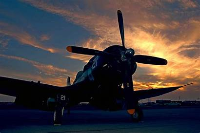 Corsair F4u Airplane Plane Wallpapers Sunset Flying