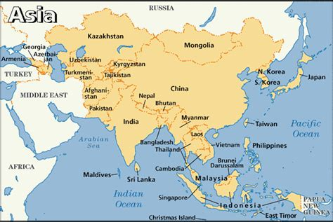 Singapore On The Map Of Asia.Map Of Asia Continent 50 Best Templates
