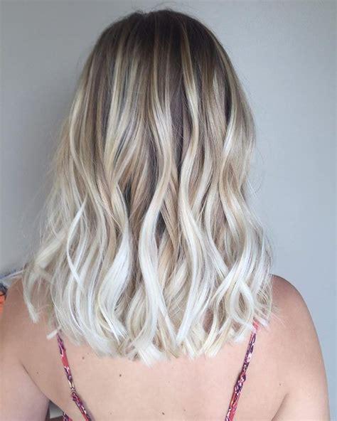 Textured White Blonde Balayage Hair Inspiration In 2019