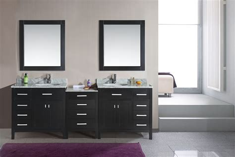 double sink vanity application  spacious bathroom