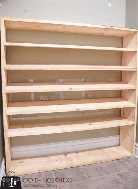super sized shoe rack   budget garage