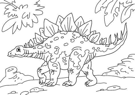 Kleurplaat Grote Dinosaurus by Kleurplaat Dinosaurus Stegosaurus Afb 27626