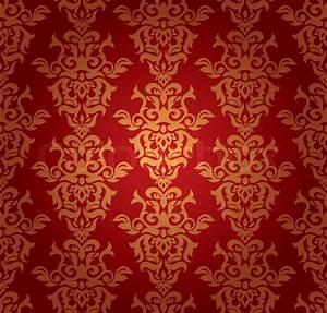 Abstract seamless damask wallpaper vector illustration