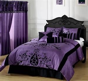 Modern, And, Elegant, Purple, Bedroom, Design, For, Teenage, Girls