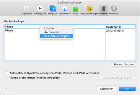Store Wiederherstellen by Iphone Und Ipod Touch Backups Finden Apple Support