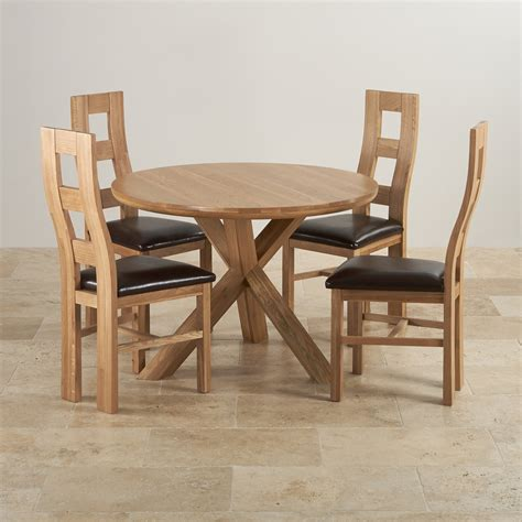 3 foot round table natural oak dining set 3ft 7 quot table 4 wave back chairs