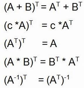 Transponierte Matrix Berechnen : matrizenrechnung grundlagen ~ Themetempest.com Abrechnung
