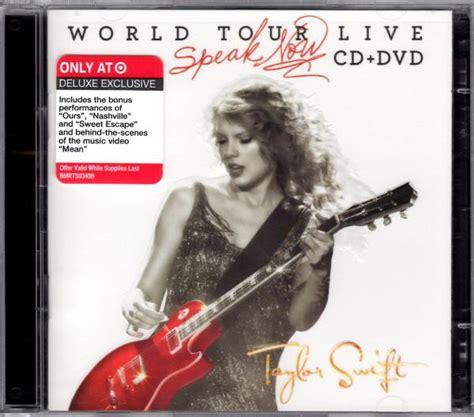 taylor swift speak  world   cddvd dvd