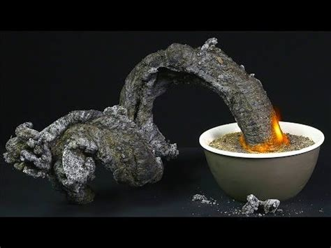 amazing fire snake  black snake science experiment