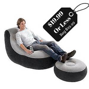intex inflatable lounge chair with ottoman only 19 99