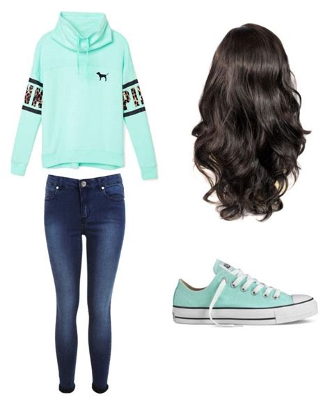 Back To School Outfit   Blue converse School outfits and Curly