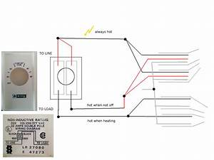 Wiring - Installing Double-pole Line-voltage Thermostat