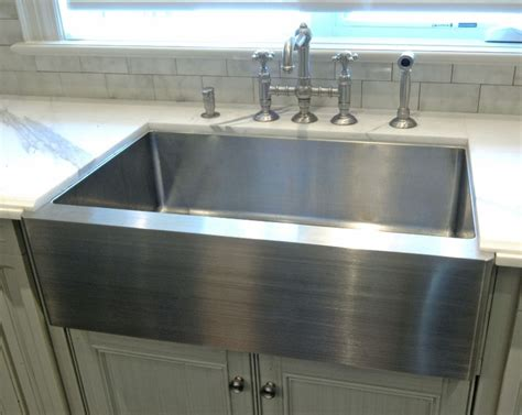 stainless steel apron sink home kitchen ideas
