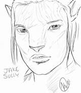 Avatar Sully sketch template