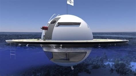 Flying Ufo Boat by Ufo Floating Pod Futuristic Underwater Sea Vessel That