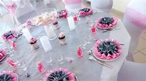 Deco Table Rose Et Gris : id e d co de table gris perle et rose mariage wedding ~ Melissatoandfro.com Idées de Décoration