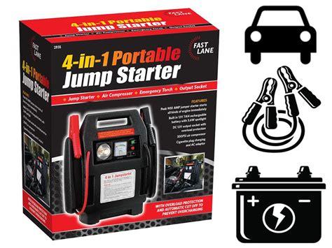 12v Portable 4 In 1 Car Jump Starter Air Compressor