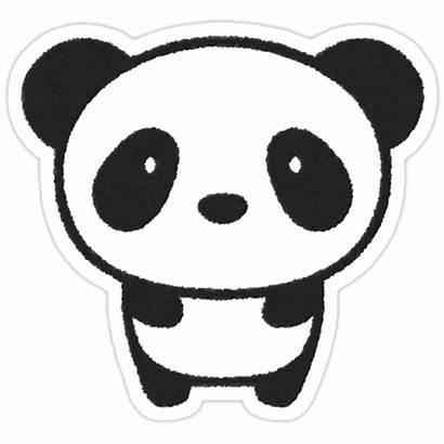 Panda Sticker Stickers Redbubble Extra