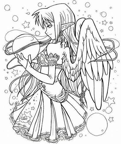 Coloring Pages Fairy Gothic Printable Fairies Anime