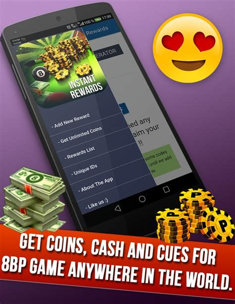instant rewards daily free coins for 8 pool for android apk