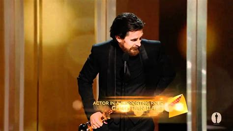 Christian Bale Winning Best Supporting Actor Youtube