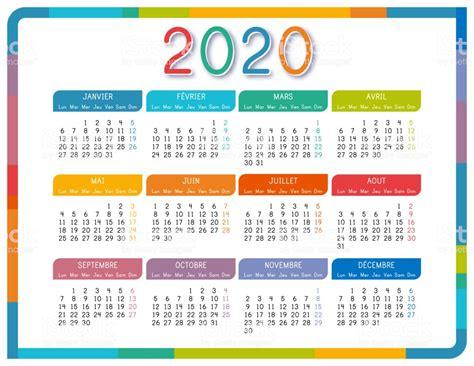 calendrier en langue francais sur fond blanc calendrier colore