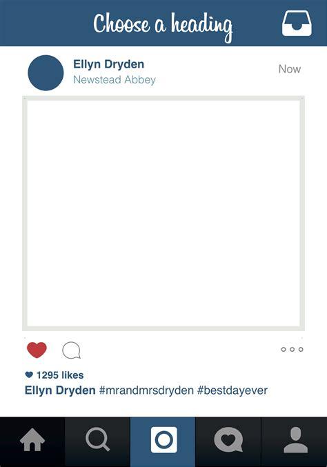 instagram template 23 images of instagram frame template vector aadhiidesigns