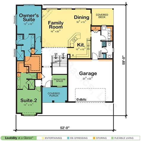 dual owner suite home plan master suite floor plan craftsman house plans small house plans
